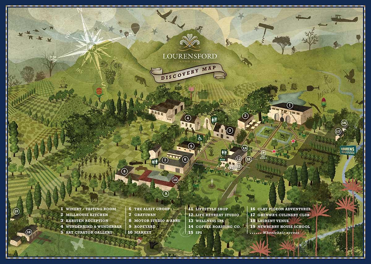 Lourensford Wine Estate Map
